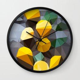 lemonade abstract geometrical art Wall Clock