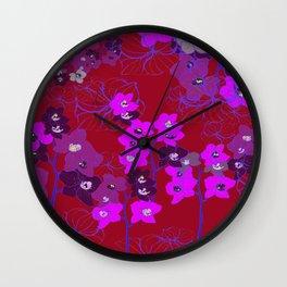 Oriental Orchids Wall Clock