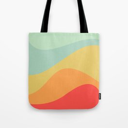 Abstract Color Waves - Bright Rainbow Tote Bag