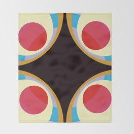 Colorful Retro Shapes Throw Blanket