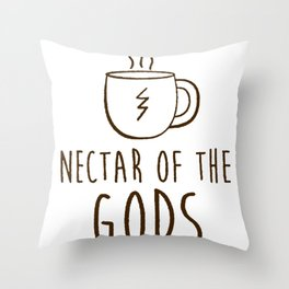 COFFEE NECTAR OF THE GODS T-SHIRT Throw Pillow