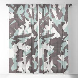 Camouflage 1 Sheer Curtain