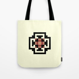 REIGN black and rust medallion pattern on vanilla Tote Bag
