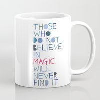 roald dahl Mugs featuring Believe in magic... by Madi