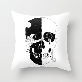 After Life (A Glimpse into a Void or the Moment of a Disappearing Existence) Throw Pillow