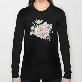 Perfect Pink Succulent Long Sleeve T-shirt
