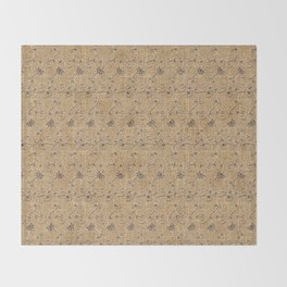 Burlap and Lace Pattern Image Throw Blanket