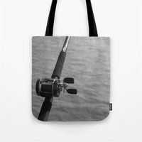 fishing Tote Bags featuring Fishing by Raymond Earley