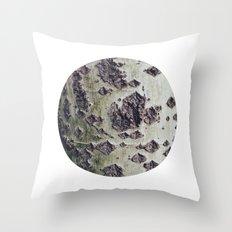 Planetary Bodies - Green Tree Throw Pillow