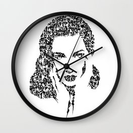 Kanji Calligraphy Art :woman#2 Wall Clock