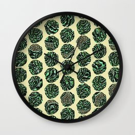 Cool as a Cabbage Wall Clock