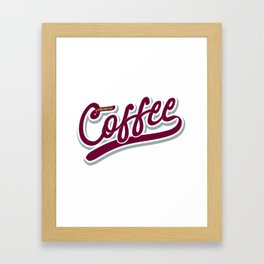 Powered by Coffee Framed Art Print
