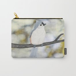tufted titmouse - bokeh Carry-All Pouch