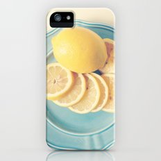 Lemons on Blue iPhone (5, 5s) Slim Case