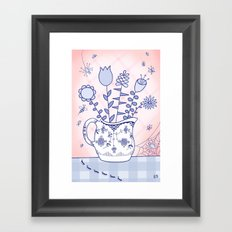 Spring Bouquet with Bugs Framed Art Print
