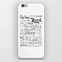 bible verse iPhone & iPod Skins featuring All The Days, Bible Verse Art by Kate D