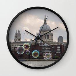 St Pauls and Bubbles Wall Clock