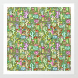 Green desert Art Print