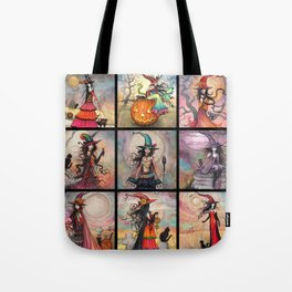 Halloween Witches by Molly Harrison Fantasy Art Tote Bag