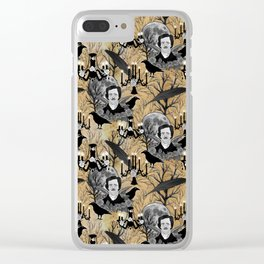 Edgar Allan Poe Clear iPhone Case