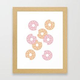 Sprinkled Donuts Framed Art Print