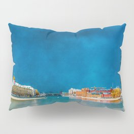 Snow Showers Over Moscow Pillow Sham