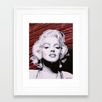 marylin monroe Framed Art Prints featuring Marylin Monroe by CjosephART