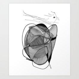 Nest of heart Art Print