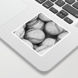 Baseballs Black & White Graphic Illustration Design Sticker