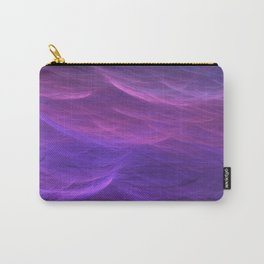 Pink and Purple Ultra Violet Soft Waves Carry-All Pouch