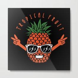 Pineapple Tropical Gift Holiday Metal Print
