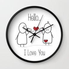 Hello I Love You Wall Clock