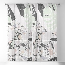 Abstract Terrazzo I. Sheer Curtain