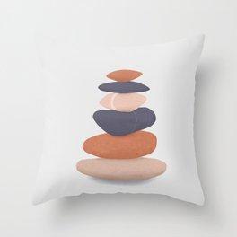 rock pile 2: minimalist balancing stones Throw Pillow