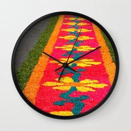 Making flower carpets Wall Clock