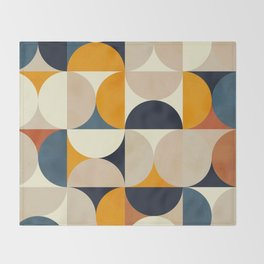 mid century abstract shapes fall winter 1 Throw Blanket