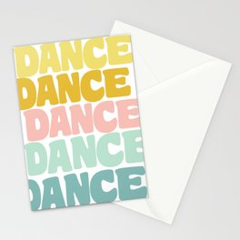 Dance in Candy Pastel Lettering Stationery Cards