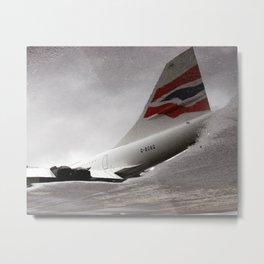 British Airways Concorde Reflection Metal Print