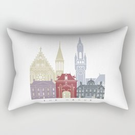 The Hague skyline poster Rectangular Pillow