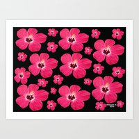 hibiscus Art Prints featuring Hibiscus   by maggs326