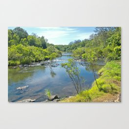 Magnificent tranquil river Canvas Print
