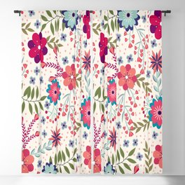 Lovely Floral Background Blackout Curtain