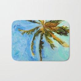 Akumal Palm Tree Painting Bath Mat