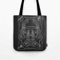 storm trooper Tote Bags featuring Storm Trooper by Jon Deviny
