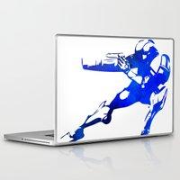 metroid Laptop & iPad Skins featuring Metroid - Samus by Bradley Bailey