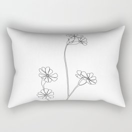 Wild flower botanical drawing - Ilana Rectangular Pillow