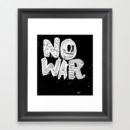 No War Framed Art Print
