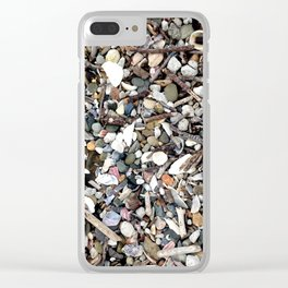 Shells and Stones Clear iPhone Case