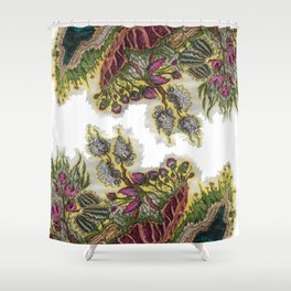 Psychedelic Floral Shower Curtain