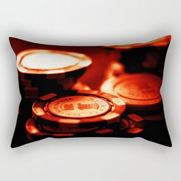 Casino Chips Stacks-Red Rectangular Pillow